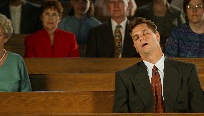 sleeping-in-church